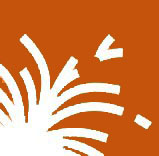 An orange graphic image representing the welding technical school program