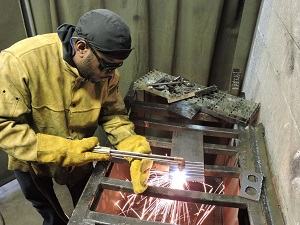 A trade student learns a variety of welding types and uses