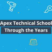 History of Apex Technical School infographic