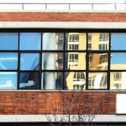 Windows at Apex Technical School building in New York